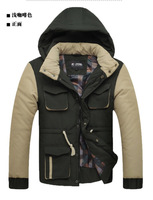 Free shipping jackets for men, top brand quality leisure suits,turn down collar zip hooded jacket autumn men's overcoat