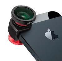 1 set Magnetic 3 in 1 Wide Angle Macro lens 180 Fish Eye camera Kit Set for iPhone 4 5 for HTC ipad Samsung android Mobile phone