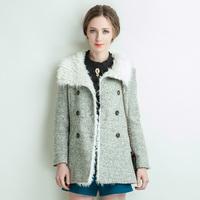 Woolen outerwear female 2013 sweet fur collar medium-long woolen outerwear woolen overcoat