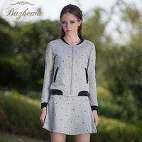 2013 autumn women's casual sweet o-neck long-sleeve skinny pants skirt twinset set