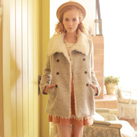 2013 new arrival fashion medium-long thermal overcoat wool
