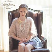 2013 wool sweater short jacket rabbit fur all-match loose short design