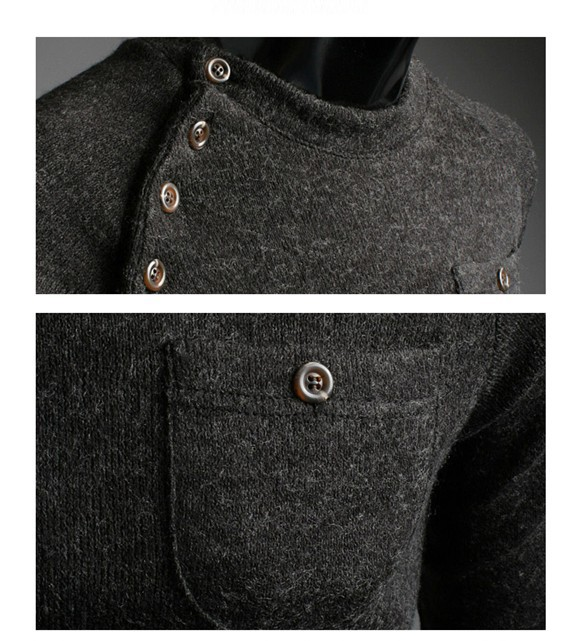 sweater V neck polo cardigan sweater for men fashion cashmere sweater