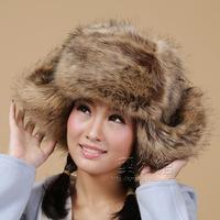 Winter women's hat fur fox fur rabbit fur lei feng cap women's autumn and winter windproof ear