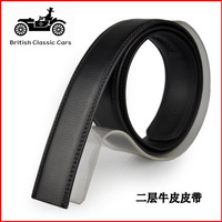 Strap strip male genuine leather belt automatic buckle button no second layer of cowhide strap
