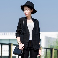 Zz women's autumn 2013 drawstring waist slim small suit jacket fluid female zd08059