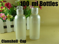 100ml clamshell bottle pearl white bottle make up container small/empty bottles free shipping wholesale #1841