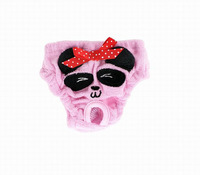 Petstye dog panty panada design doggie puppy Diaper shorts pets menstruation panties terrycloth  S M L pink yellow