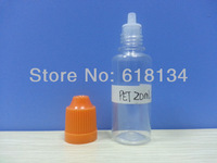 Wholesale Free shipping--20ml PET childproof cap bottle with thin tip for 2500pcs by FedEx shipping