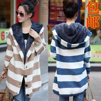 2013 trend fashion medium-long plus velvet thickening big sweater outerwear cardigan female