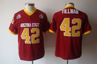 Cheap Stitched College Football Jerseys Arizona State Sun Devils #42 NCAA Pat Tillman Jersey Free Shipping, Size: M-3XL