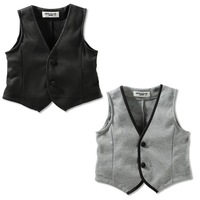Wholesale NEW Arrival Boys Gentleman Vest Children's Fleece Waistcoat kids Warm Outerwear baby Clothing 5pcs/lot