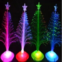 Free Shipping ! 10pcs/lot The Christmas decoration cute and compact fiber optic tree For Party & Festival Decorations