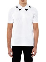 G 2013 five-pointed star embroidery polo shirt turn-down collar male fashion short-sleeve t