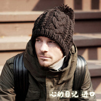 The new 2013 winter and aumtmn ball fashion wool hat 8 words twist to keep warm winter hats for men and women knitting hat  B270