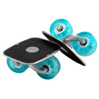 The heart of the second generation drift board hlwg split slide small scrub skates limit skateboard plate