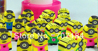 Free Shipping 2013 Despicable me 2 feeding bottle eraser rubber  9 bottles/lot   wholesale