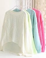 2013 autumn fashion loose mm pullover twisted sweater female outerwear