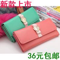 Pear doll wallet female heart bow long design women's wallet women's wallet q218