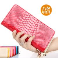 Women's wallet long design embossed zipper bag 18.8
