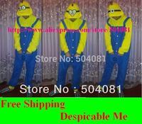 1 set /lot Christmas pajamas New 2014 pijamas Kids Cartoon Despicable Me minion sleepwear Baby clothing