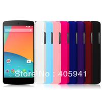1pcs For Google Nexus 5 Matte Hard Case,Rubber Hard Back Case For LG Google Nexus 5 E980 D820 D821Free Screen Protector