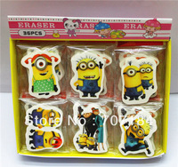 Kawaii  2013 Despicable me 2 eraser rubber  72 eraser/lot  for kids