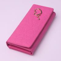 Wallet women's long design 2013 fashion women's zipper coin pocket 12 rose
