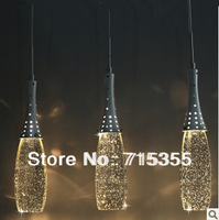 2014 limited time-limited freeshipping knob switch yes three modern minimalist chandelier crystal lamp restaurant lights bubble