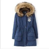 2013 The new  winter han edition tarmac tooling cotton-padded clothes collars thickening cotton-padded jacket velvet coat