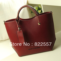 New 2013 Hot designer brand Women messenger bag PU leather handbags  high quality shoulder bag 3 color black   free shipping
