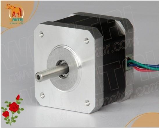 Hot selling ! Wantai Nema17 Stepper Motor 42BYGHM810 0.9degree 4200g.cm 48mm 2.4A 5mm shaft CE ROHS ISO 3D Printer Reprap Robot(China (Mainland))