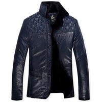 New men free shipping 2013 winter coat with fleece with thick fur coat