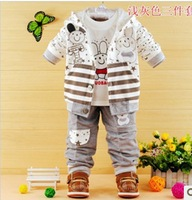 Children's clothing 0 - 1 - 2 years old child autumn male 6 - 7 - 8 baby set autumn and winter baby clothes