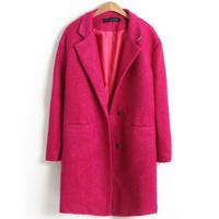 Fashion female woolen overcoat