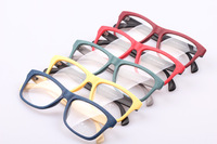Free shipping Grain of wood grain plain mirror multicolour box two-color frame eyeglasses frame wood frame glasses  10pcs/lot