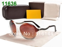 Free shipping 2013 eyewear sun glasses for women Fashion sunglass Branded design  sunglasses with original case -TBB 0271