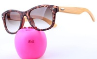 Hot selling Lowest price wholesale Free shipping Handmade bamboo frame anti-uv sunglasses  10pcs/lot