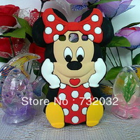 Cute 3D Minnie Mickey Mouse Polka Dot Bow Silicone Case Cover for Samsung Galaxy S3 i9300