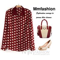 Women's ladies elegant chiffon shirt female 2013 autumn