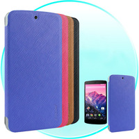 New For LG Nexus 5 Case Leather Case for Google Nexus 5 Flip Leather Case Cover w/ Stand Function Four Colors