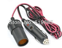 """Universal 3m 1.18"""" Power Outlet Supply Cigarette Lighter Extension Socket Cable for Motorcycle Boat Car"""