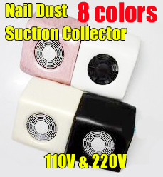 dhl110 & 220V Nail Art Dust Suction Collector Manicure Filing Acrylic UV Gel Tip Machine