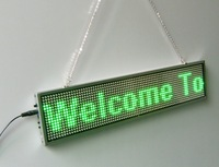 Free Shipping 10pcs/lot GREEN COLOR LED MOVING SIGN/Window Billboard/1PCS/16by80dots/P5MM-INDOOR/MANUFACTURER