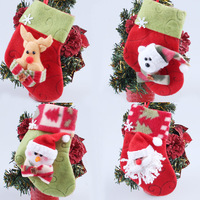 Free shipping Christmas decoration gift bag christmas decoration socks christmas decoration christmas supplies