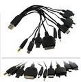 10 1 usb charge line mobile phone mp3 game machine  multifunctional charge line 4pcs/lot wholesale