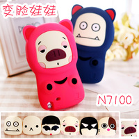 Free Shipping Case for Samsung  n7100 Phone Case New Arrival Doll Note2 Protective Case 7100 Silica Gel Sets Shell