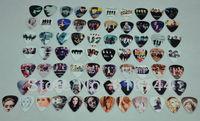 New 72pcs/lot Guitar Picks Color Printing Beatles 1D U2 Eagles Lady Gaga Adele