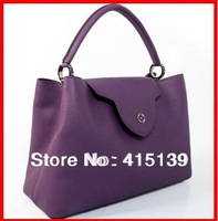2013 Women Genuine Leather Handbag Elegant Lady tote Original Calfskin Leather Shoulder Bag Women Purse One Shoulder Bag