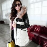 Free Shipping! High-end Customization Raccoon Fur Collar Long-sleeve Fashion Thicken Women Down Jackets Coats,GRYR196